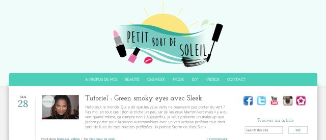 Nouveau blog - Petit bout de soleil